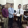 Mr Allah Nazar received golden stamp certificate