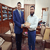 Principal's appreciation to Dr  Inayat Ullah